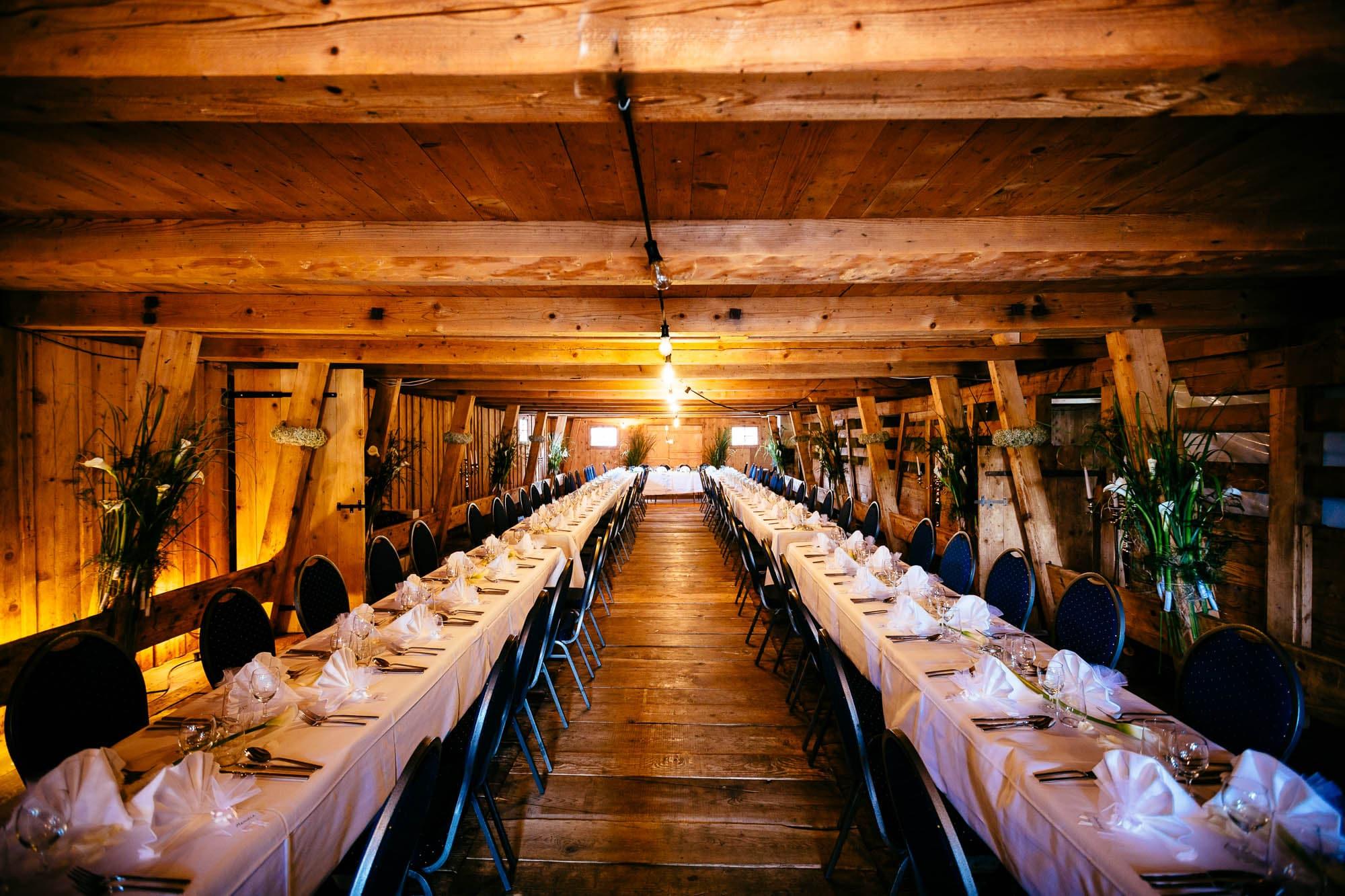 Dekoration Hochzeit Alp Scheidwegen