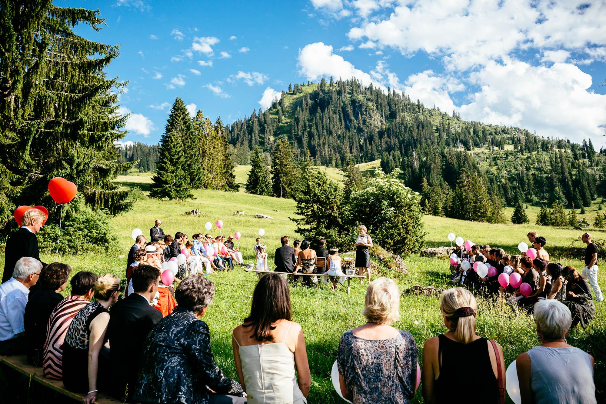 Outdoor Hochzeit auf der Alp