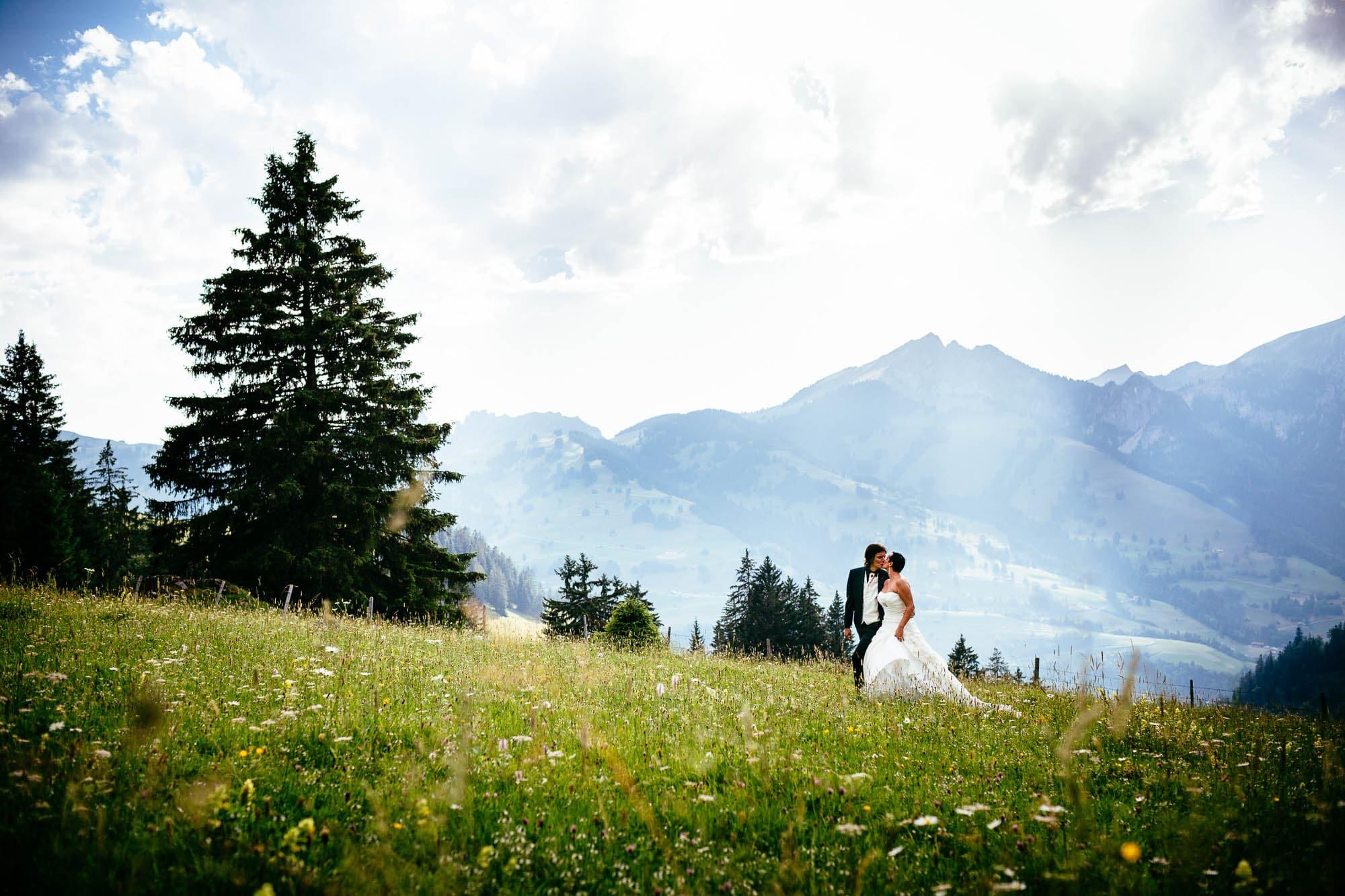 Hochzeitsfotos im Simmental, Berner Oberland