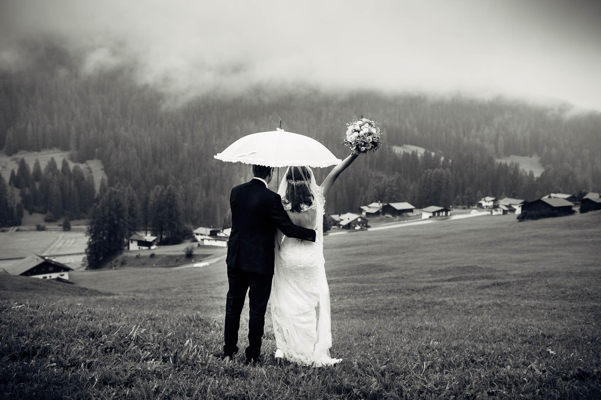 Hochzeitsfotos bei schlechtem Wetter Davos