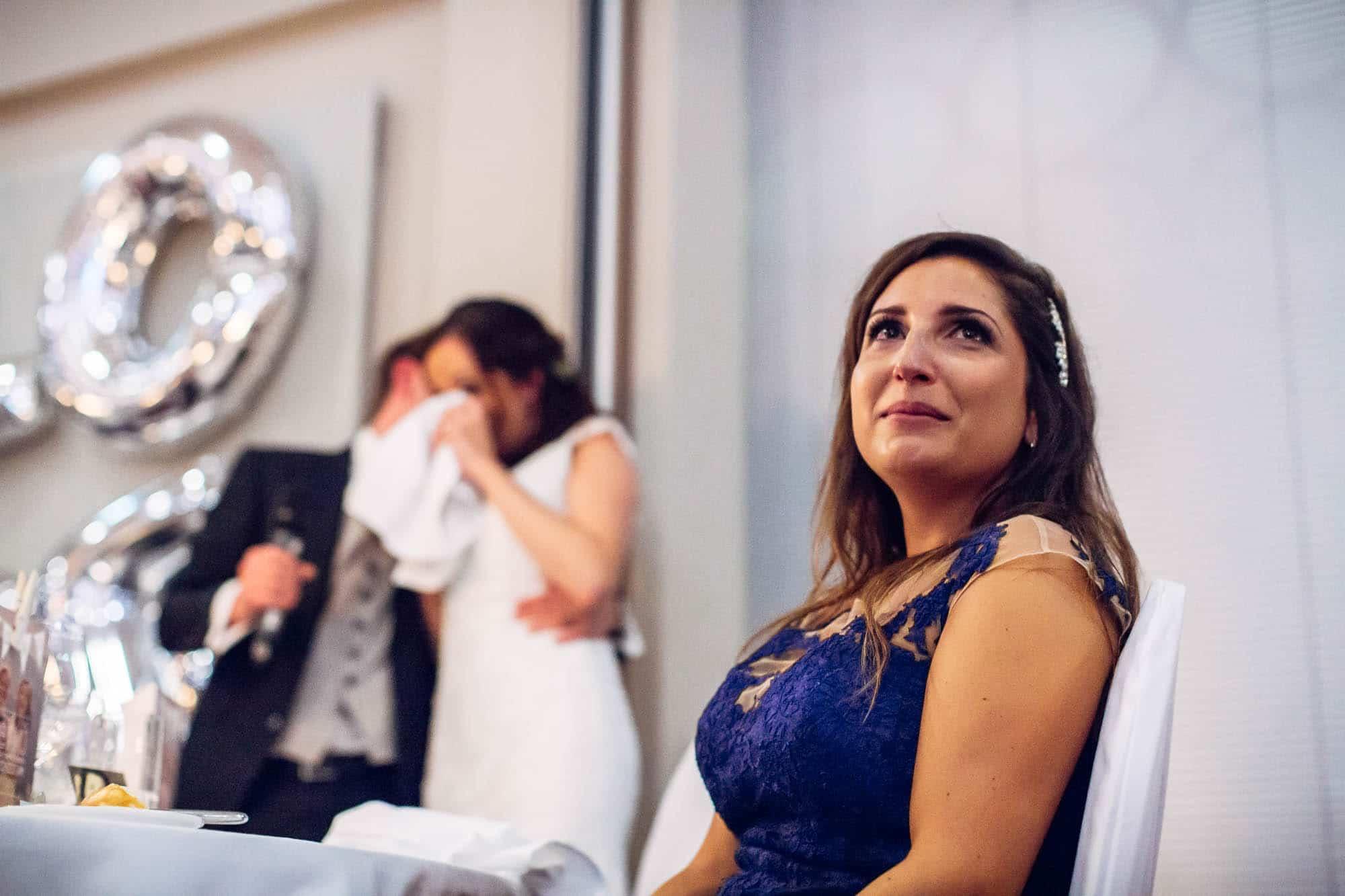 Tränen bei der Hochzeitsansprache