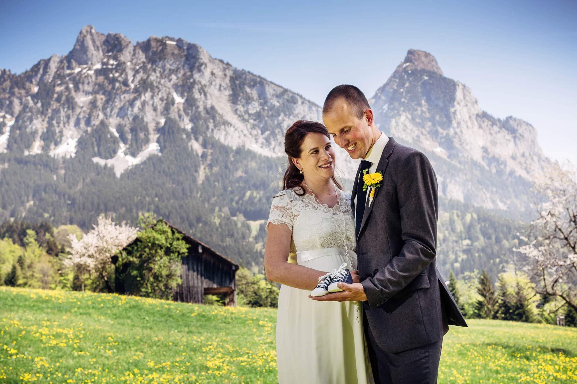 Hochzeitsfotos vor dem Mythen