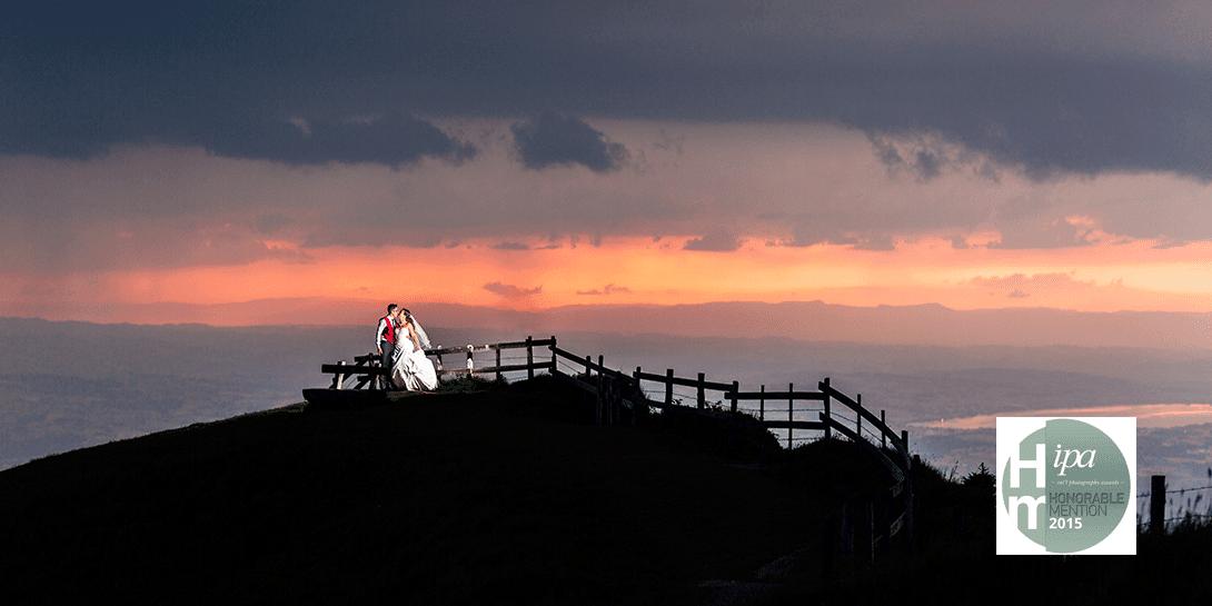 Brautpaar beim Sonnenuntergang Rigi