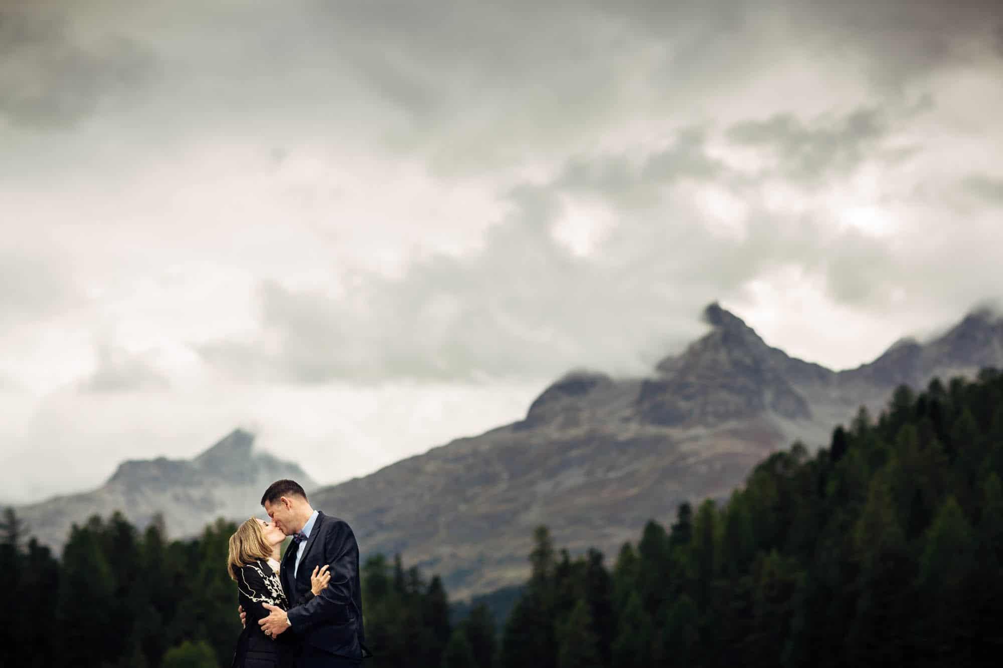 Brautpaar-Portrait in St. Moritz