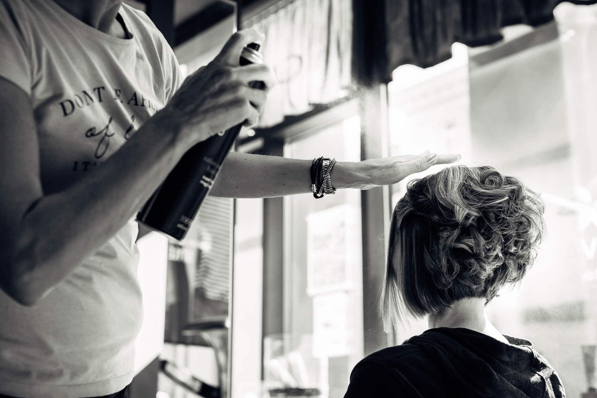 Haarspray für die Braut