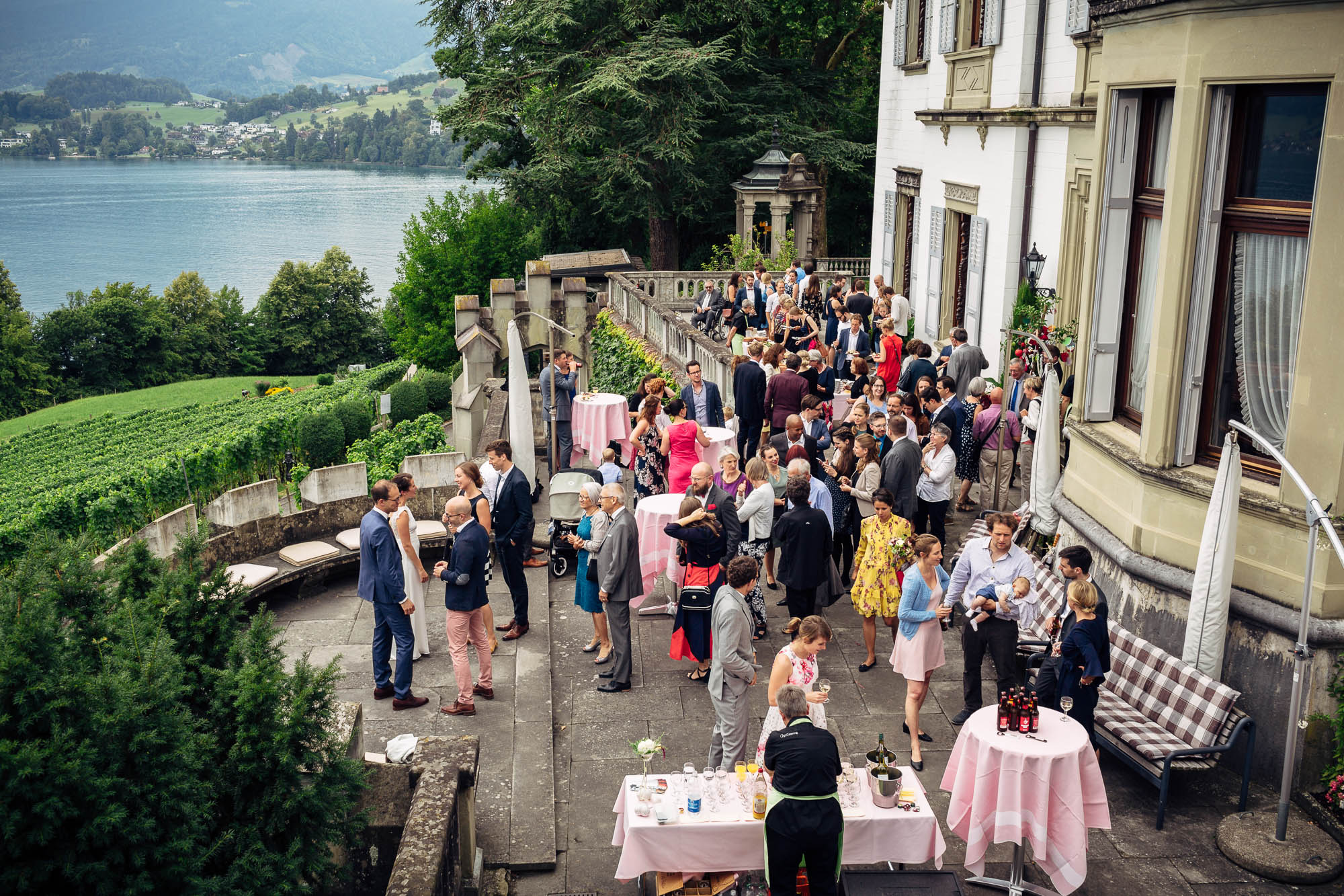 Hochzeitsapéro Schloss Meggenhorn