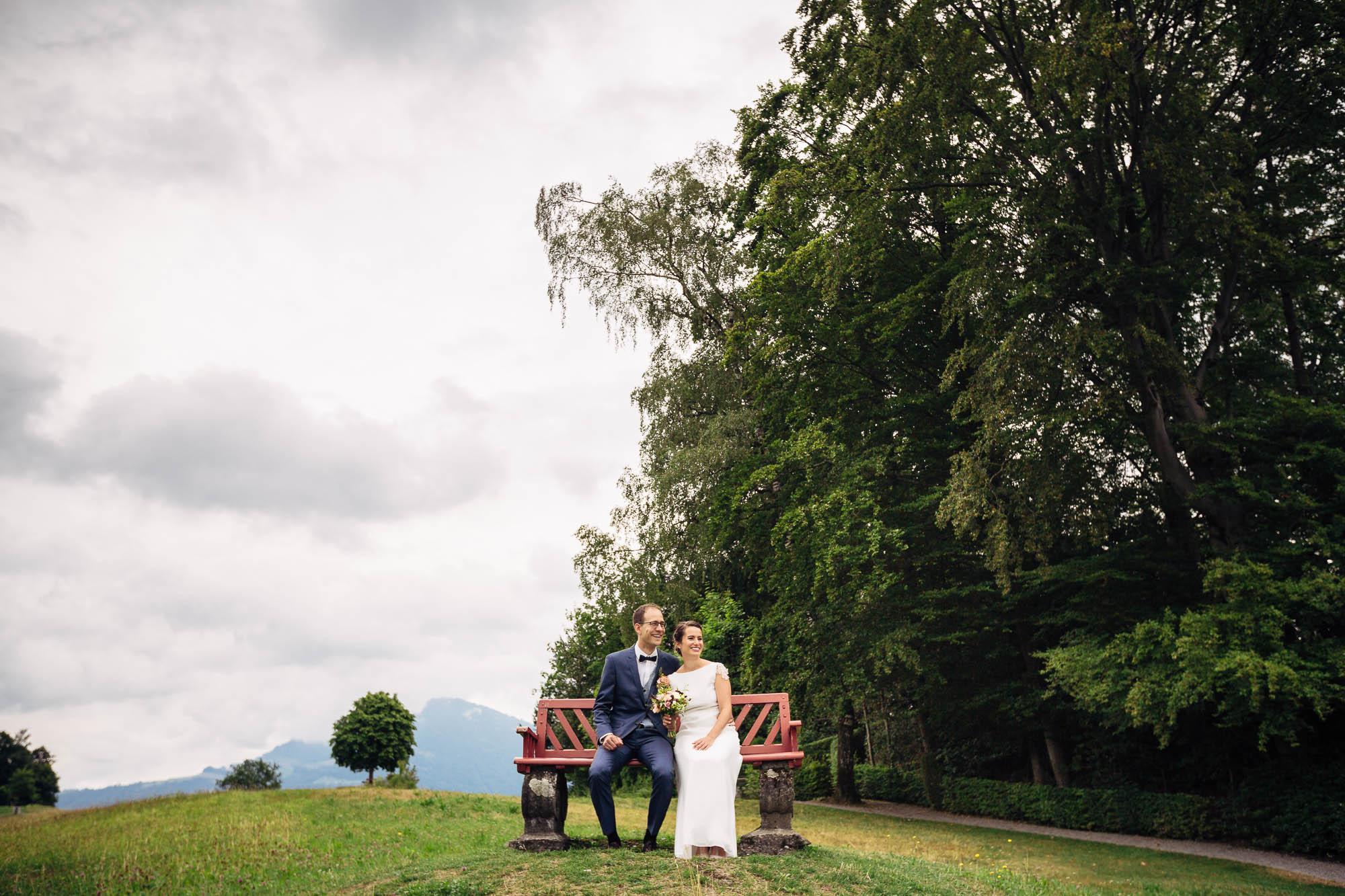 Brautpaar beim Fotoshooting Rigi