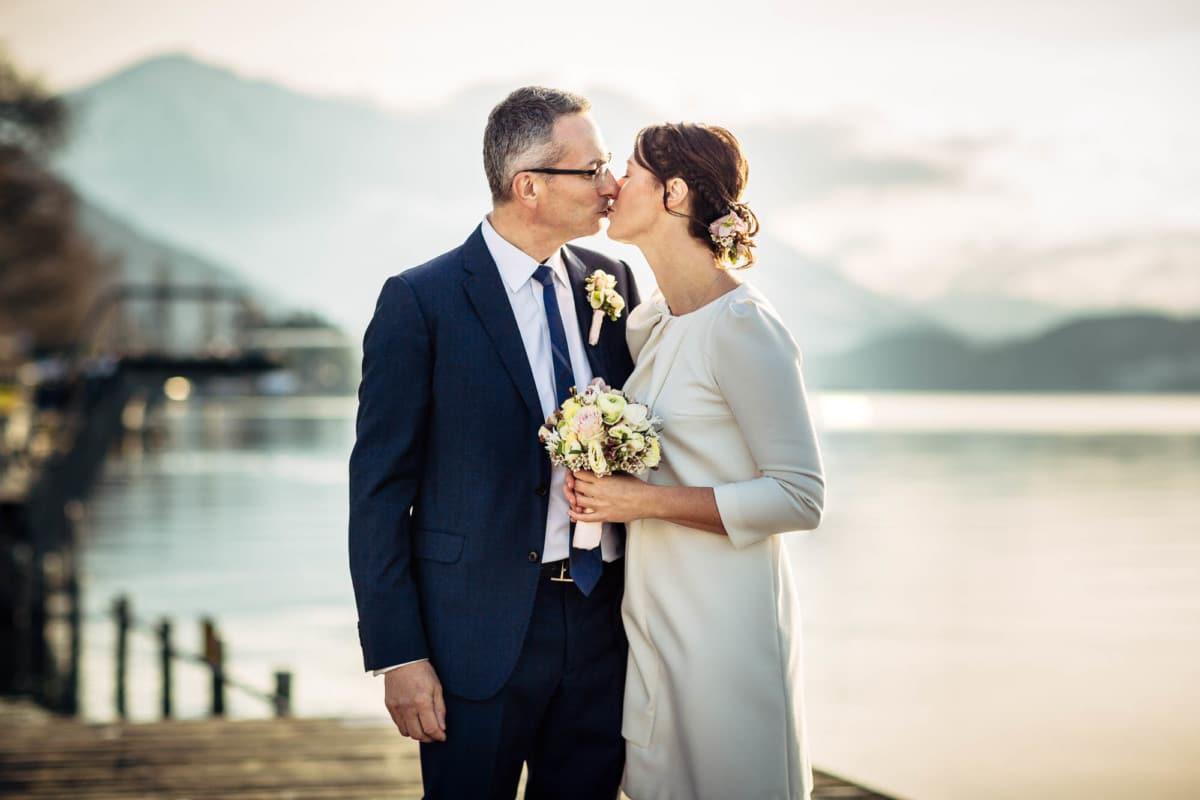 Brautpaar vor Zugersee