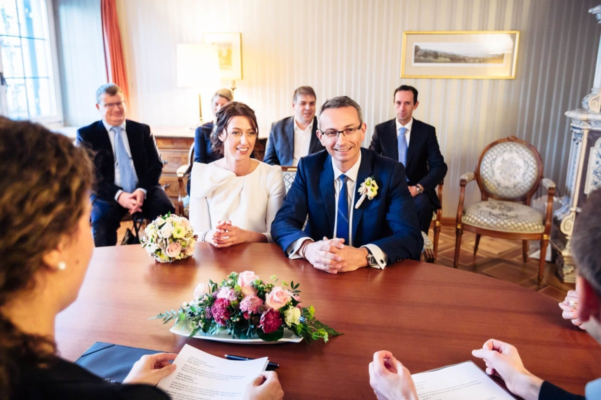 Brautpaar im Stadthaus Zug