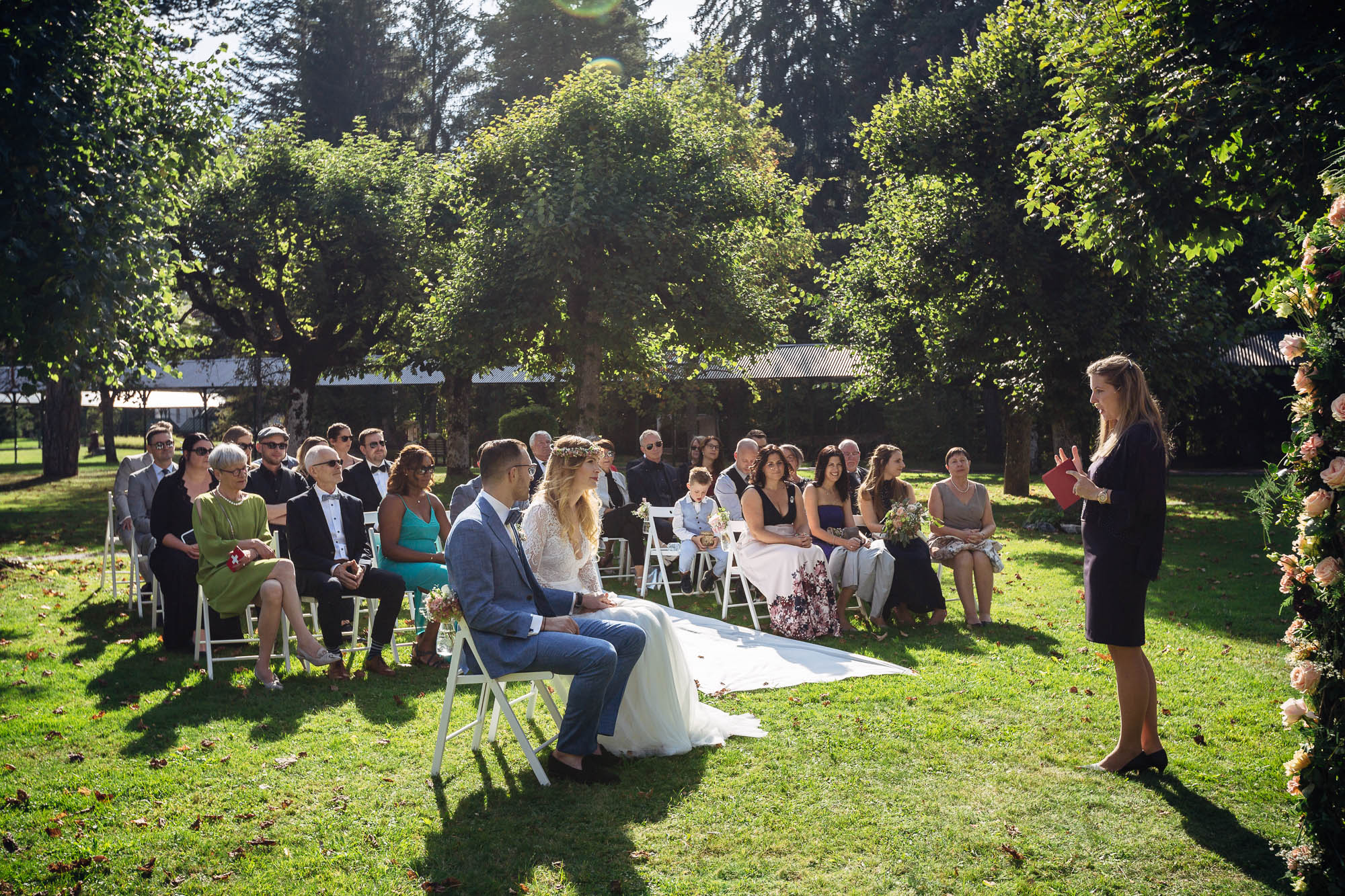 Outdoor Hochzeit im Waldhaus Flims