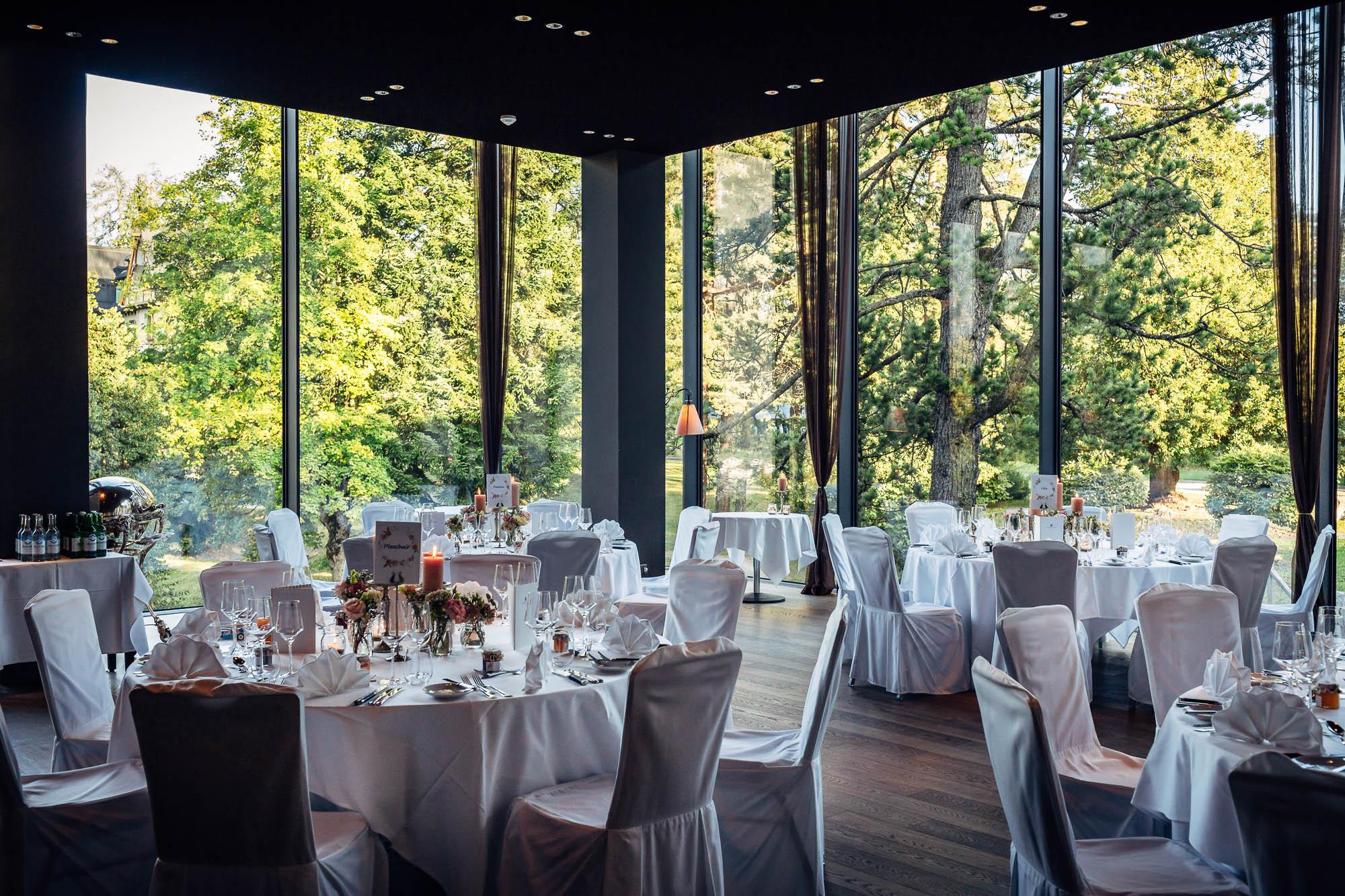 Dekoration Hochzeit Waldhaus Flims