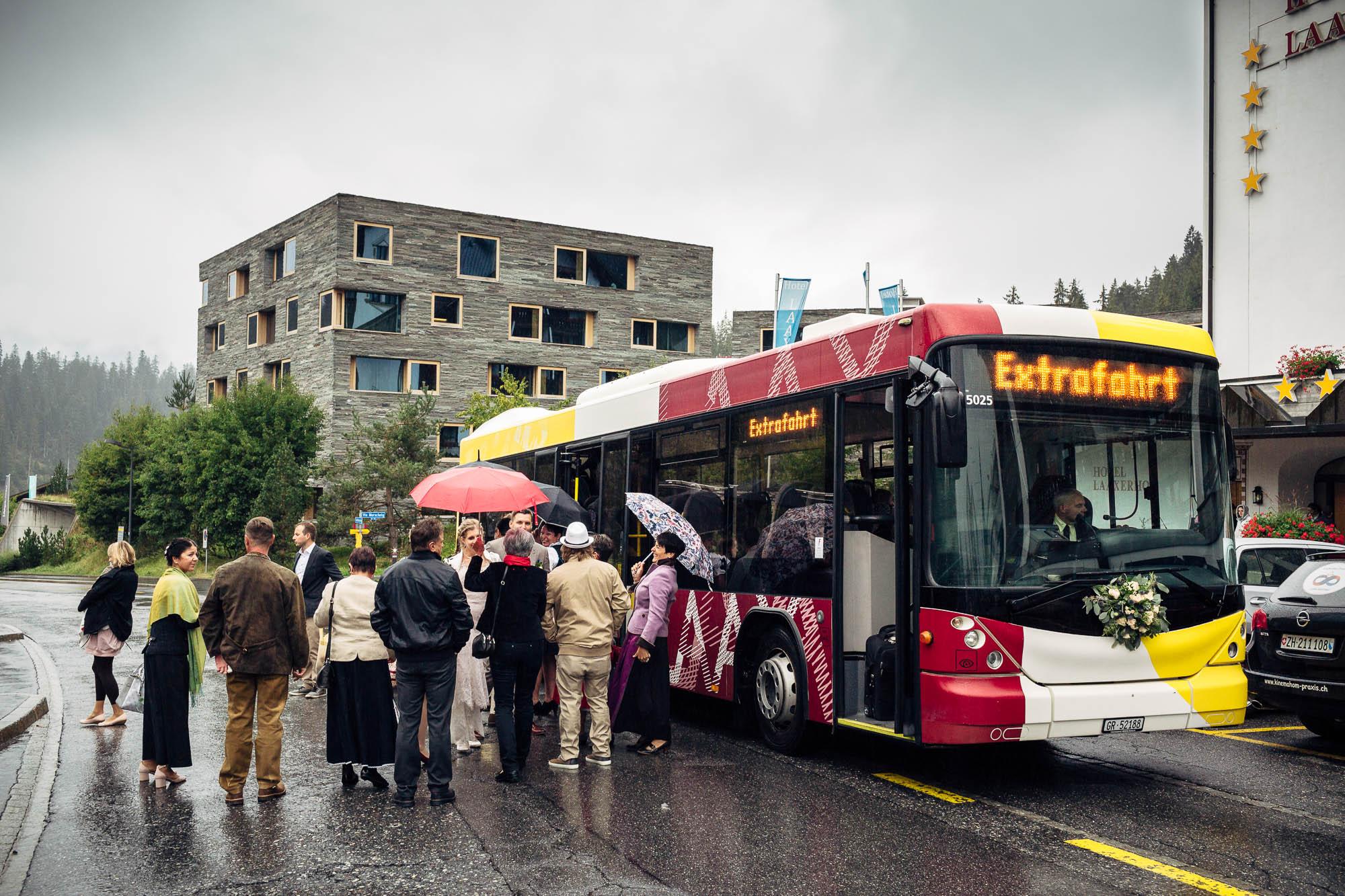 Extrafahrt Bus für Hochzeitsgäste
