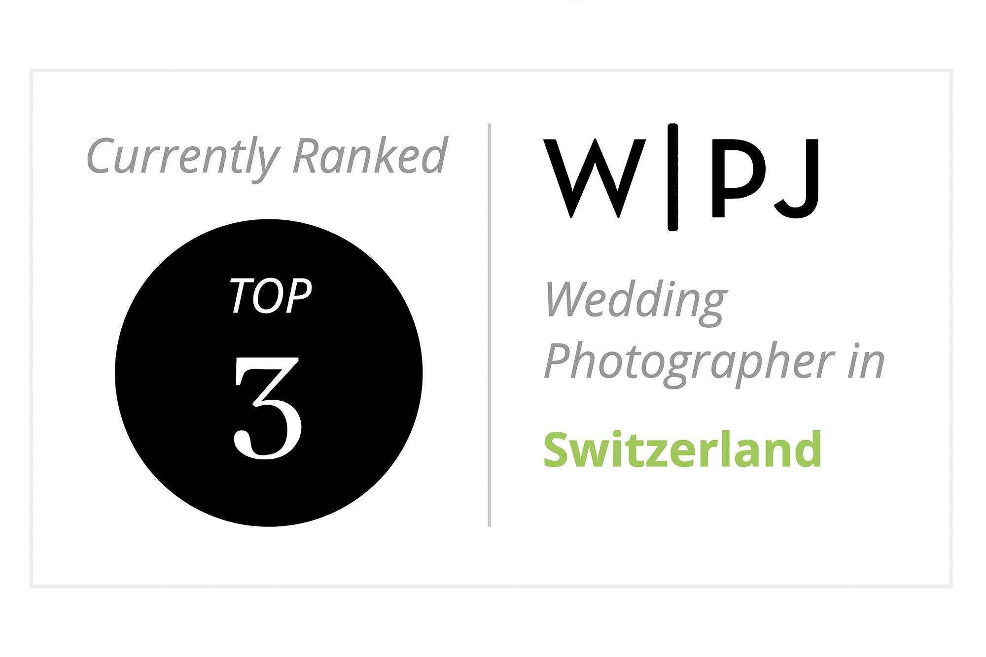 Andreas Feusi ist unter den Top 3 Hochzeitsfotografen WPJA in der Schweiz
