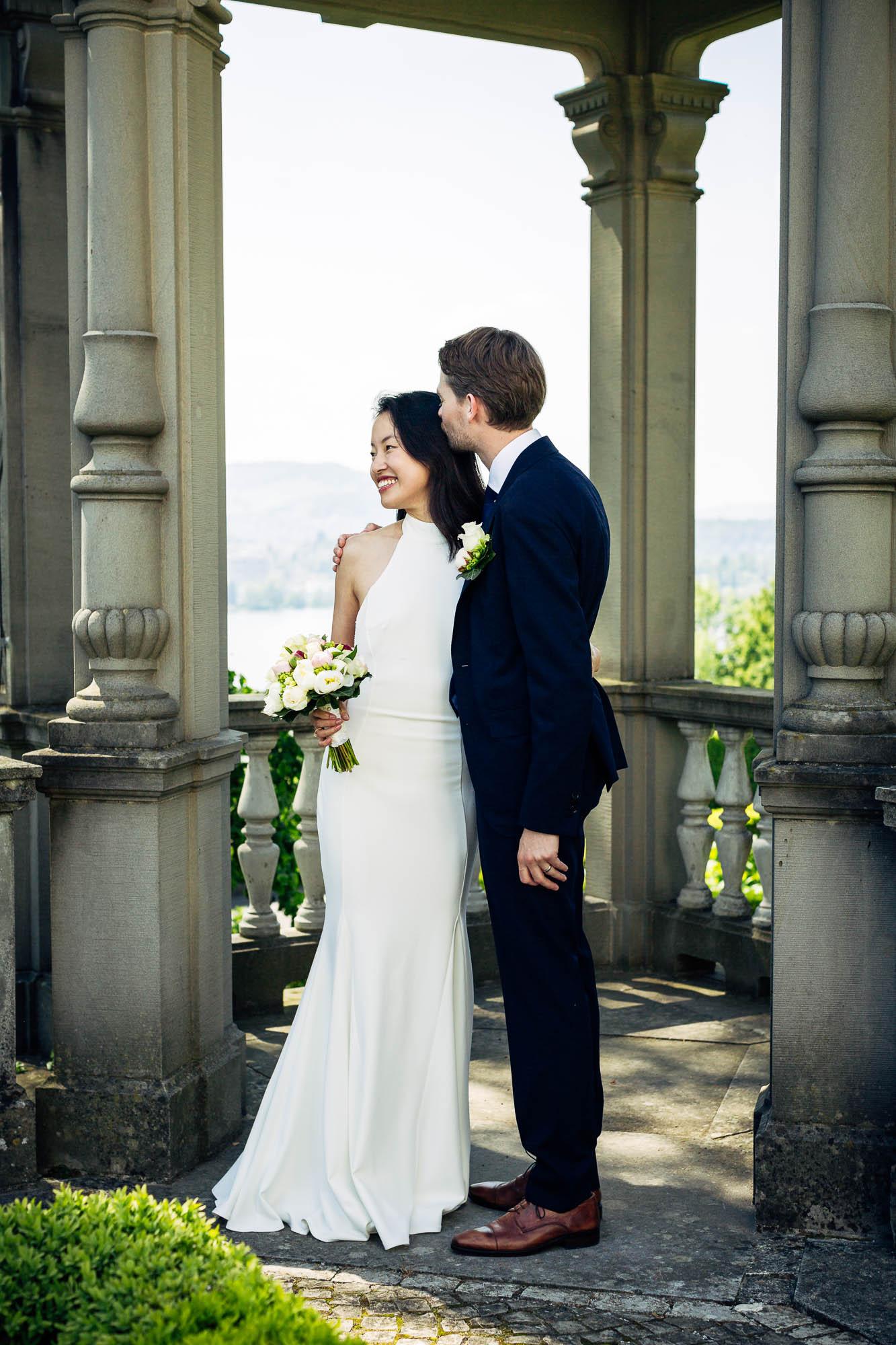Brautpaar bei Kanzel, Fotoshooting