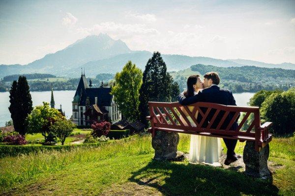 Hochzeitsfotograf Schloss Meggenhorn, Luzern, Pilatus