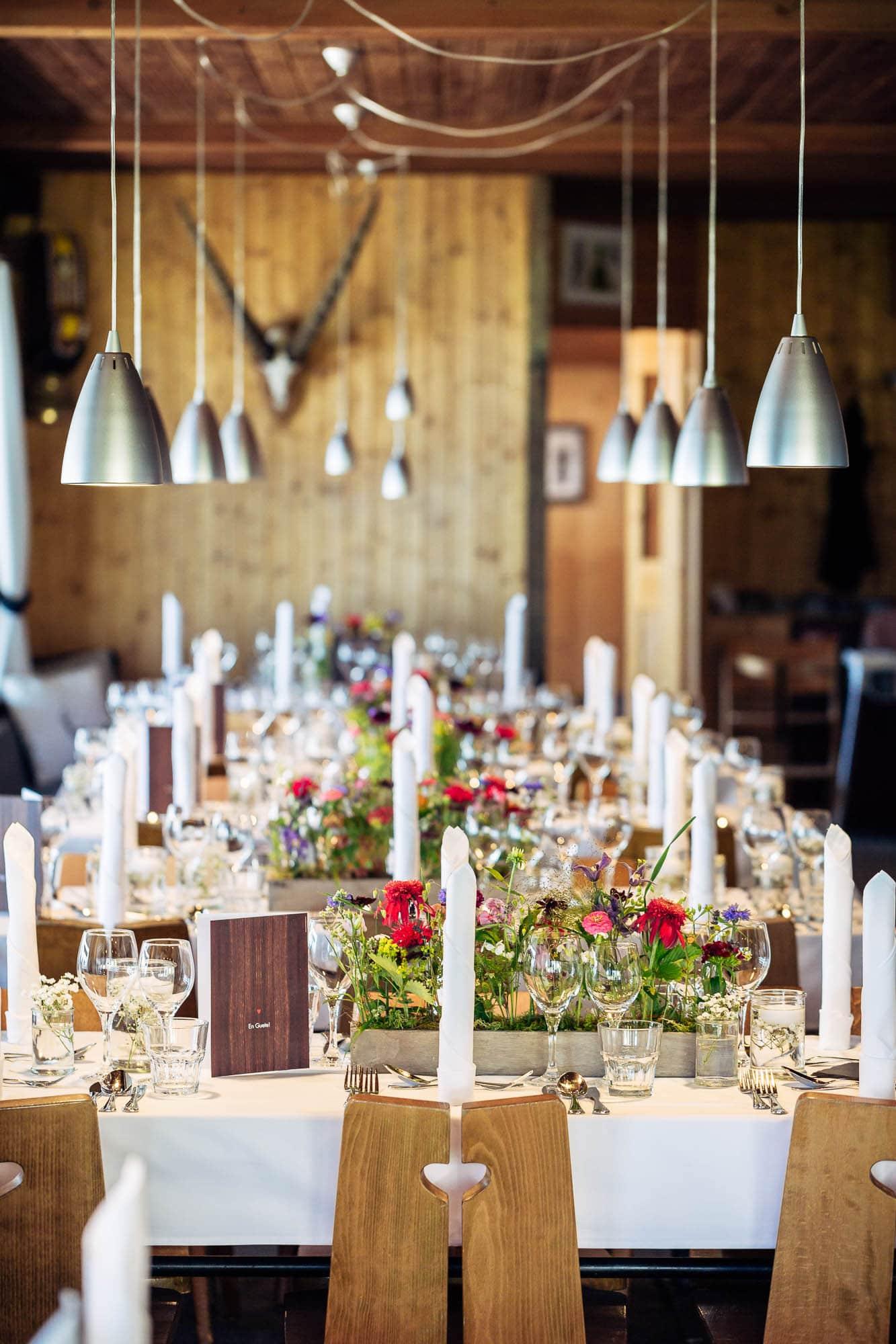 Hochzeitsdeko Berghaus Foppa