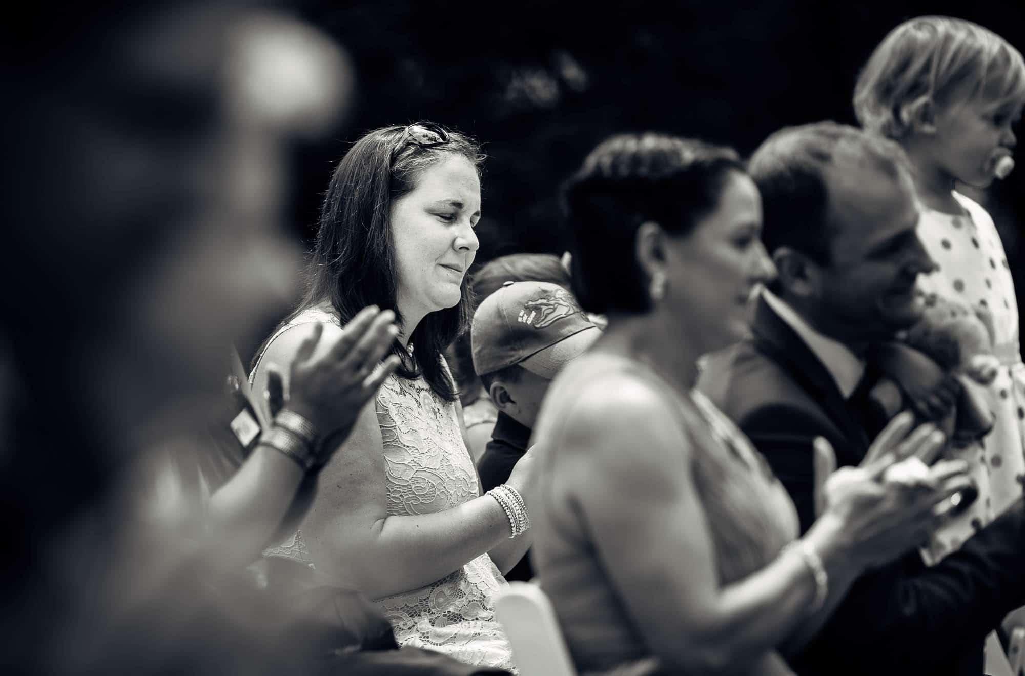 Freudetränen Hochzeitsgast