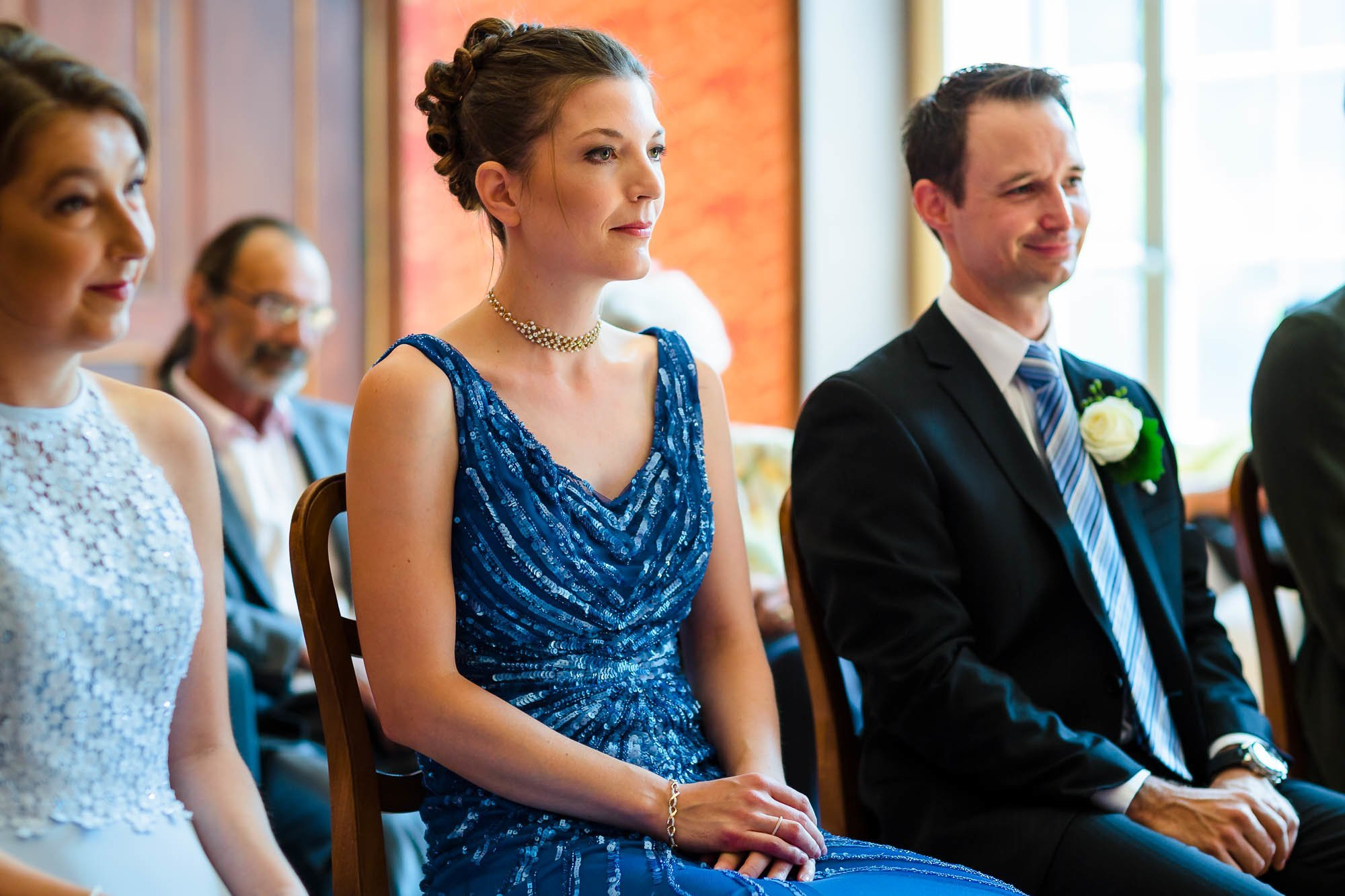 Brautpaar an Ziviltrauung