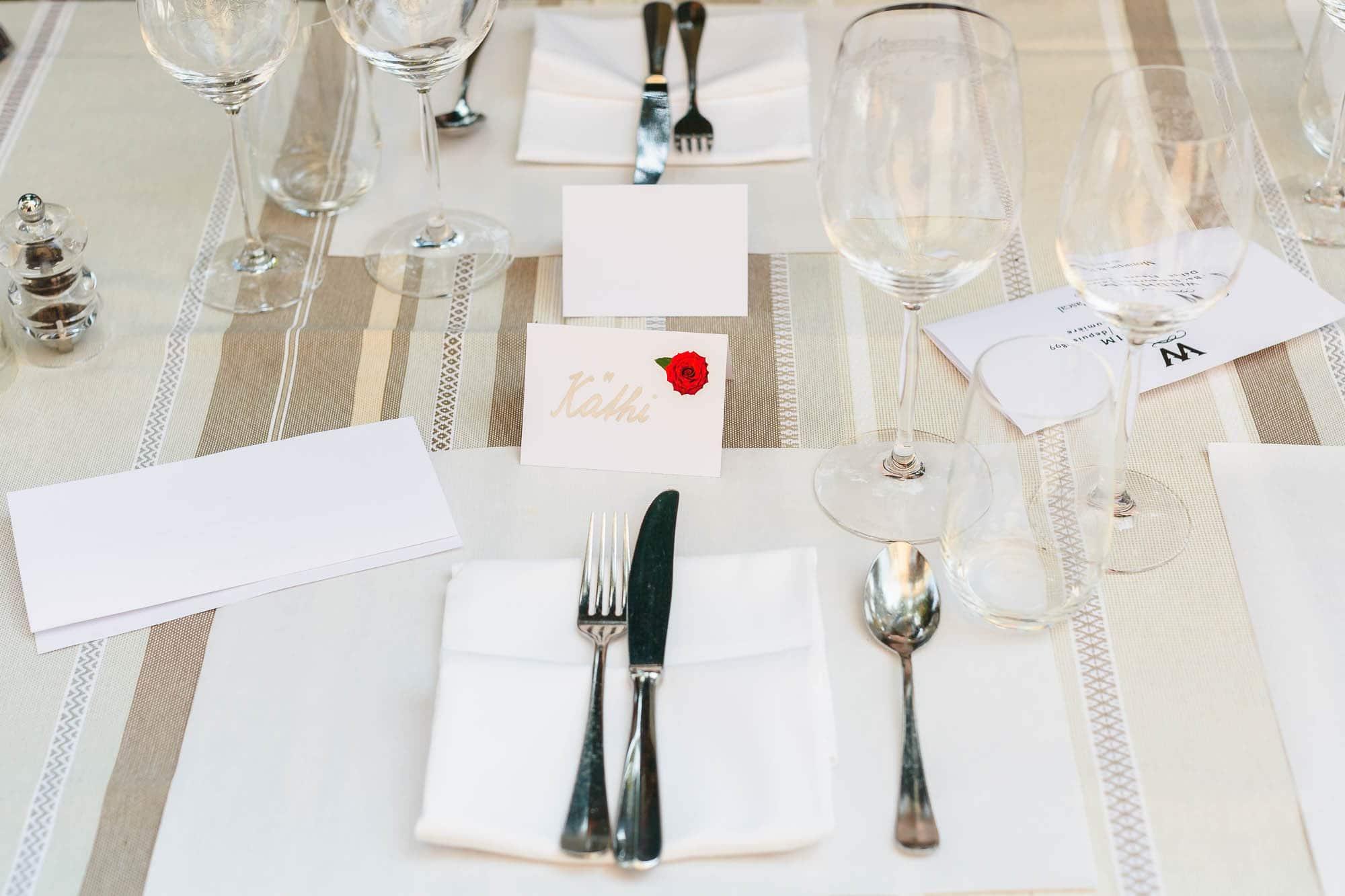 Hochzeitsdeko Restaurant Waldheim Bern