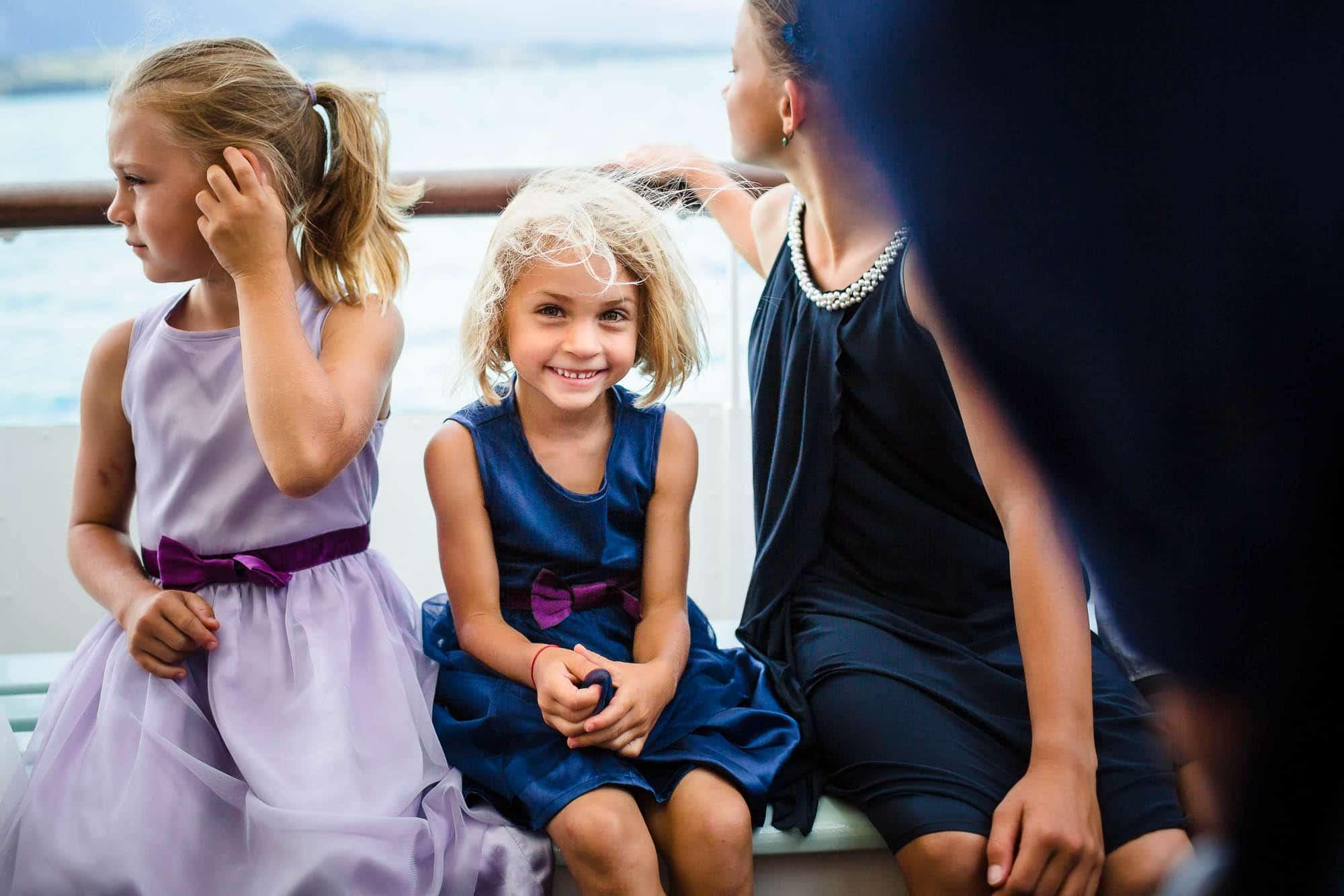Mädchen lächelt