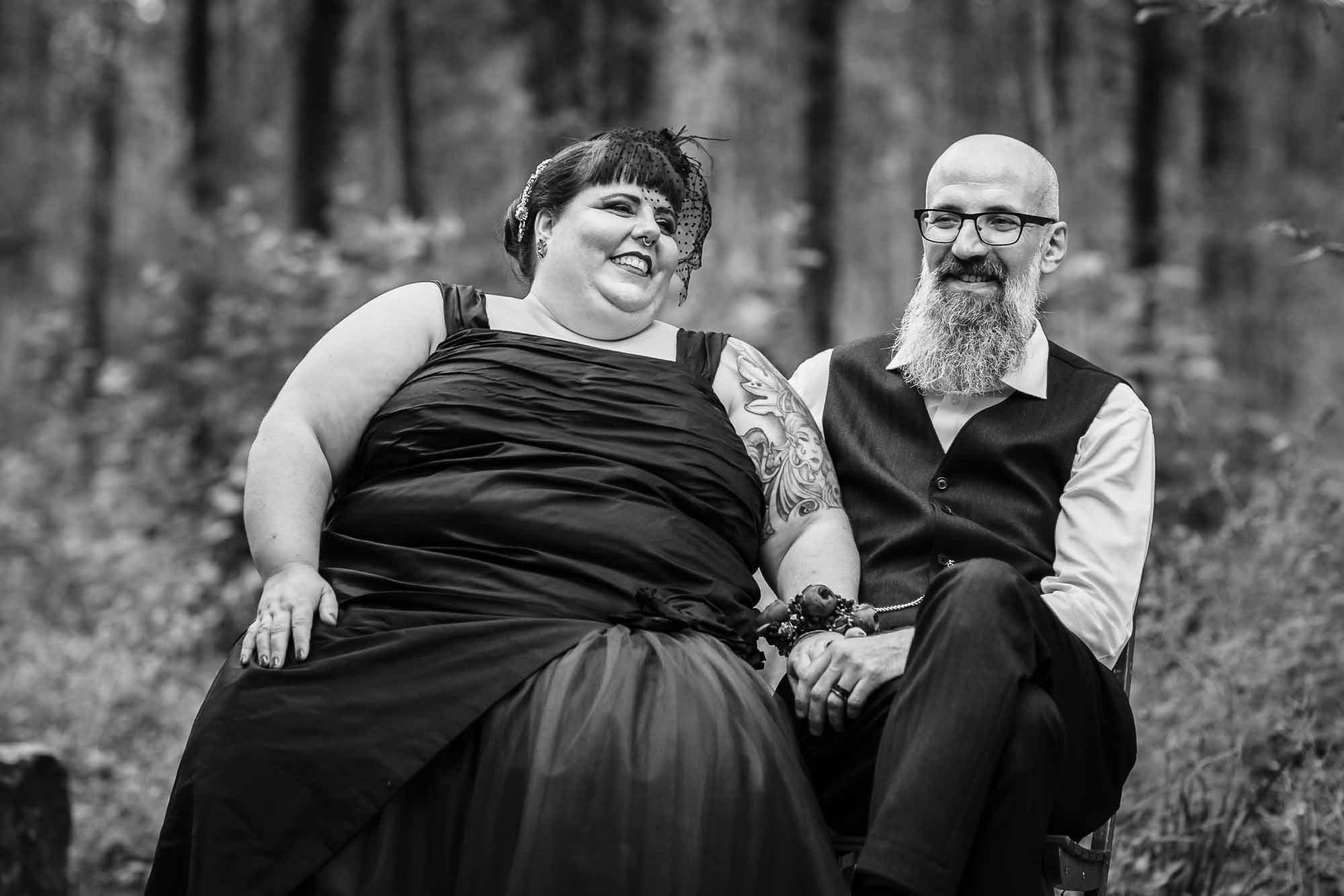Hochzeitsfotograf Gossau Rock Metal Goth Brautpaar