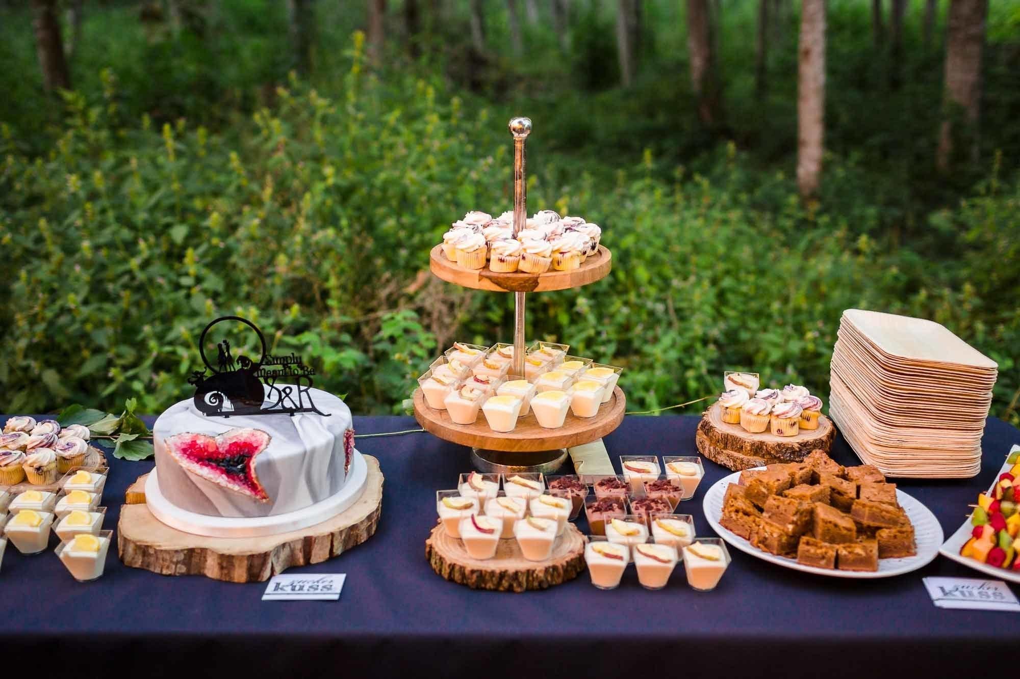 Desserbuffet Hochzeit im Wald