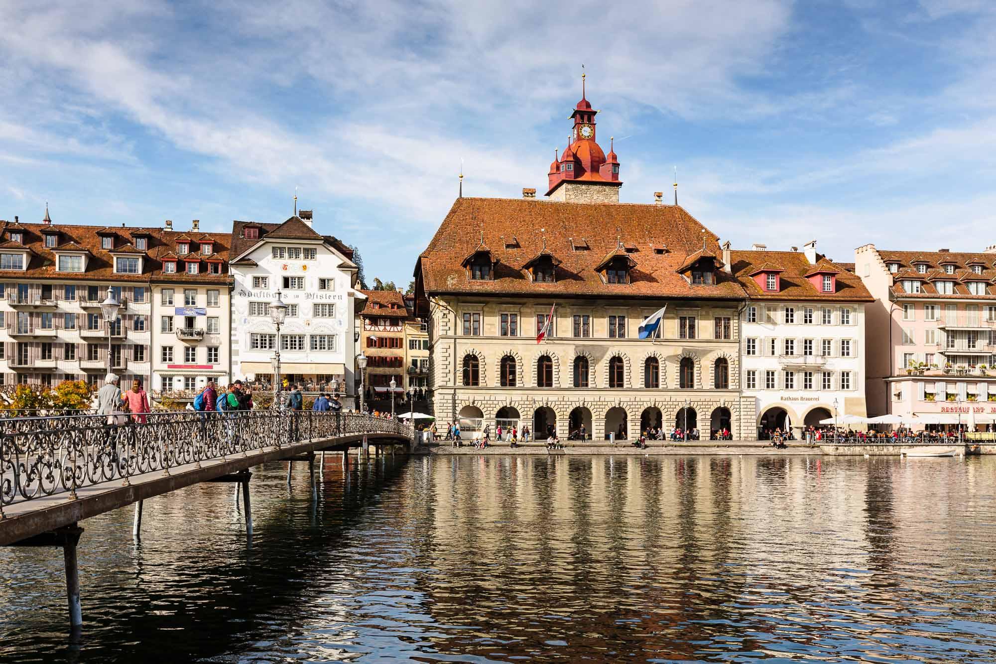 Rathaus Luzern, Brücke, Portraitsaal.