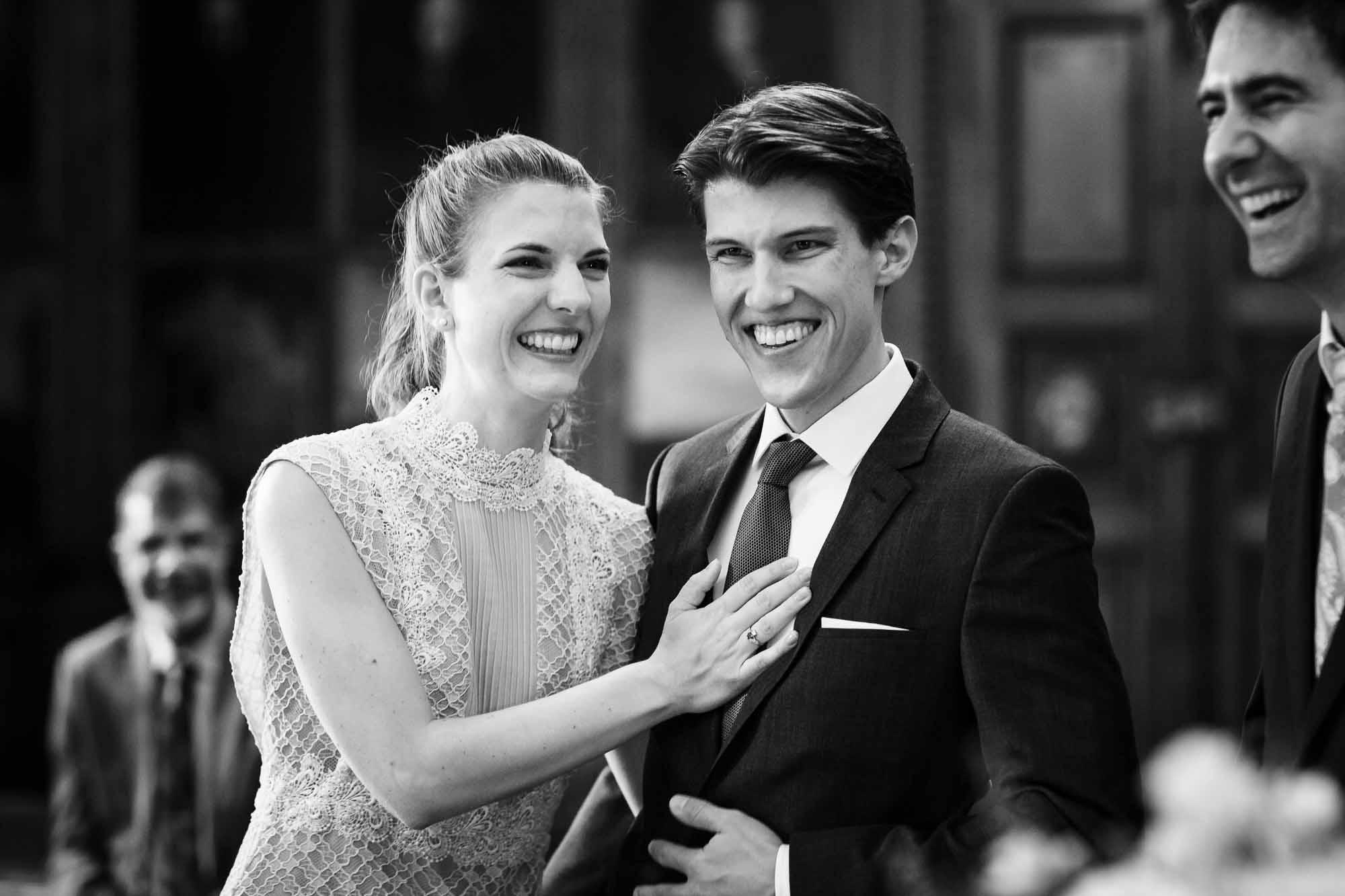 Ja-Wort Brautpaar im Portraitsaal