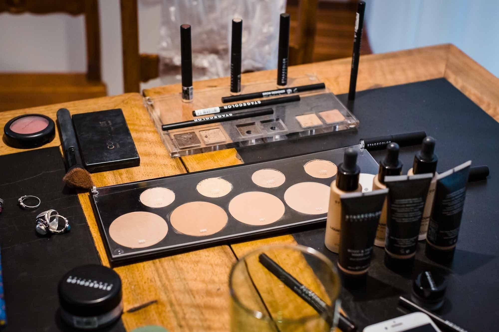 Accessoires der Make up Artistin