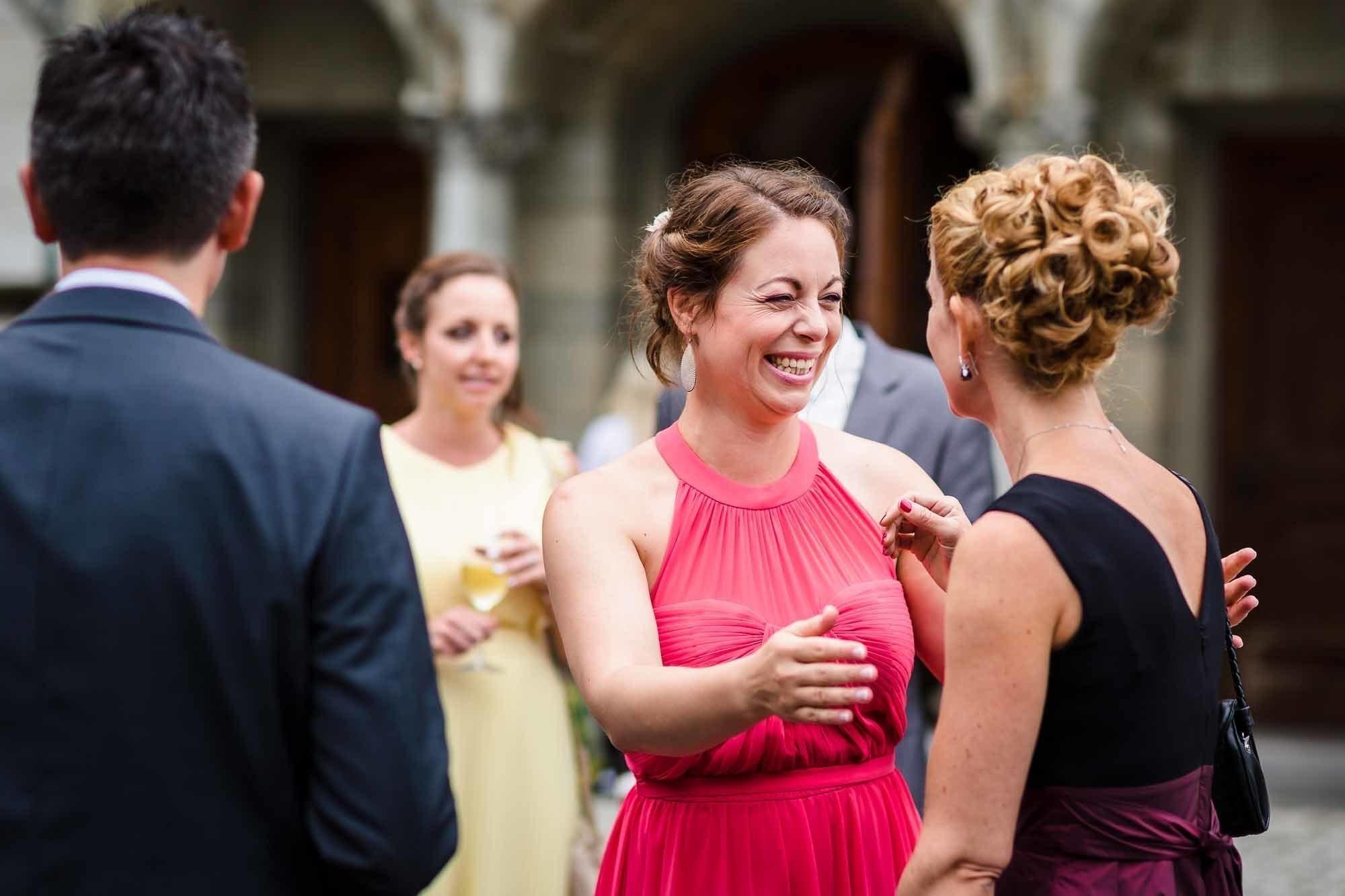 Begrüssung der Hochzeitsgäste