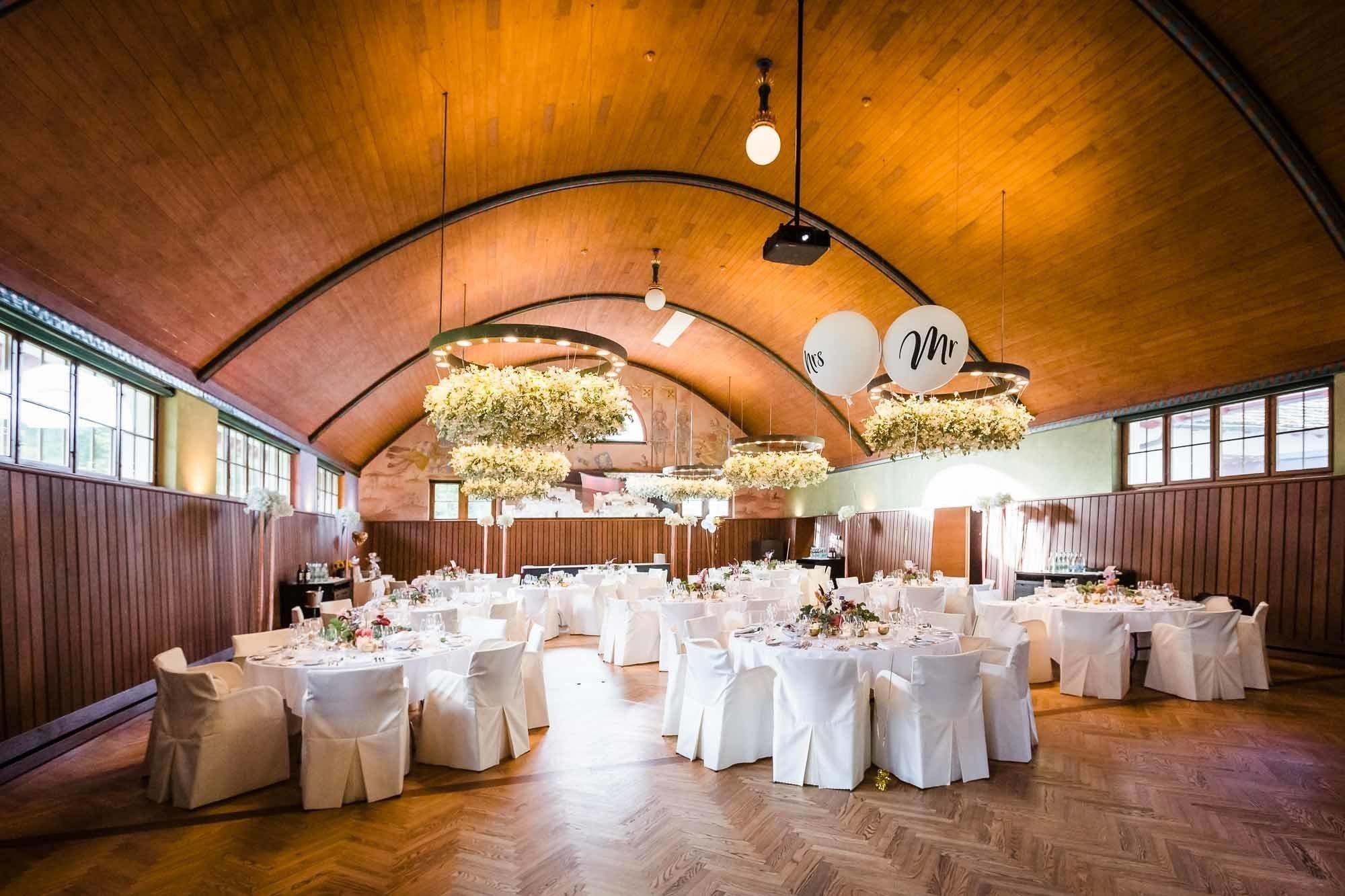 Saal Dekoration Hochzeit Bocken Horgen