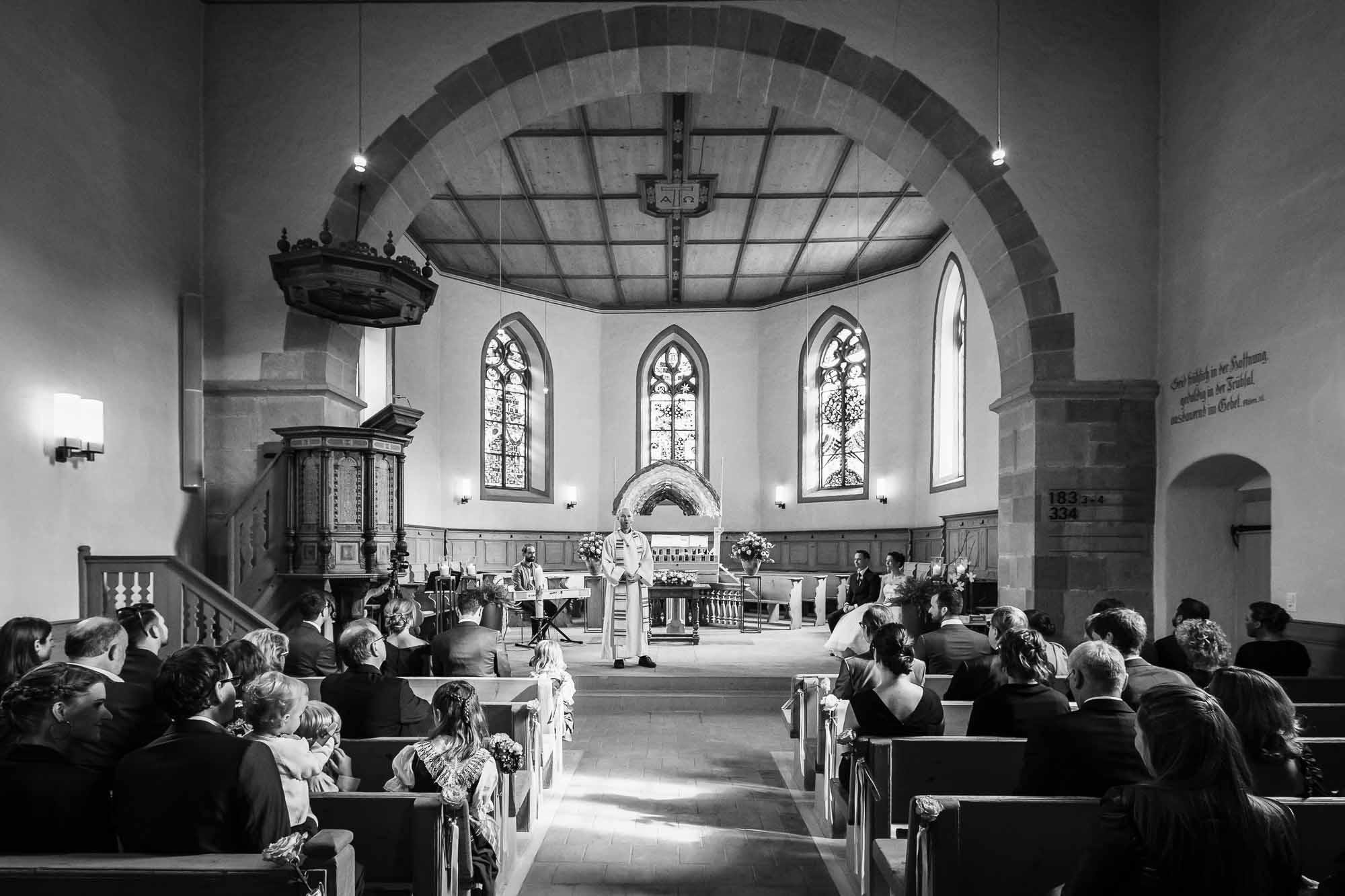 Kirche Trub während Hochzeitszeremonie