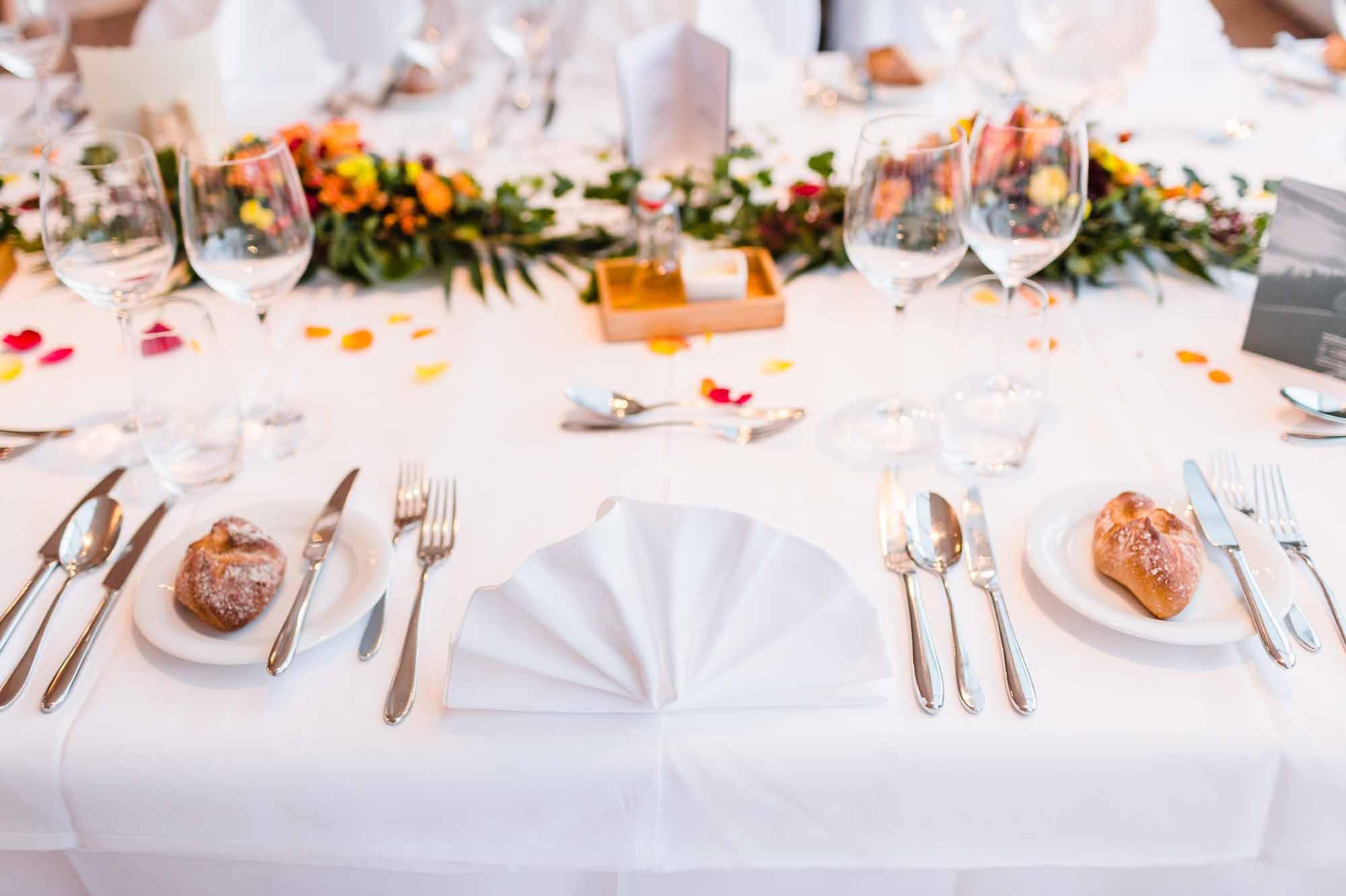 Tischdekoration Hochzeit Moosegg Emmental